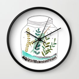Narwhal in a jar Wall Clock