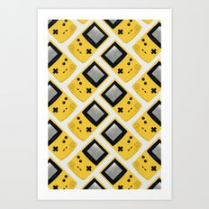 Gameboy Color: Yellow (Pattern) Art Print