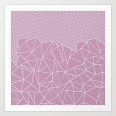 Ab Lines 45 Pink Art Print