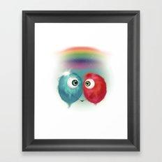 Hello Earthling - love Framed Art Print