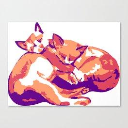 Hugging Kitties Canvas Print
