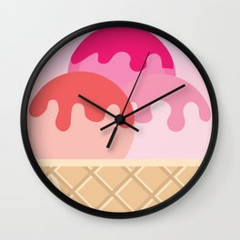 Ice Cream is Cheaper Than Therapy Wall Clock