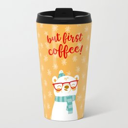 Hipster Polar Bear 3 Travel Mug