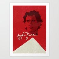senna Art Prints featuring Ayrton Senna by Diego Maricato