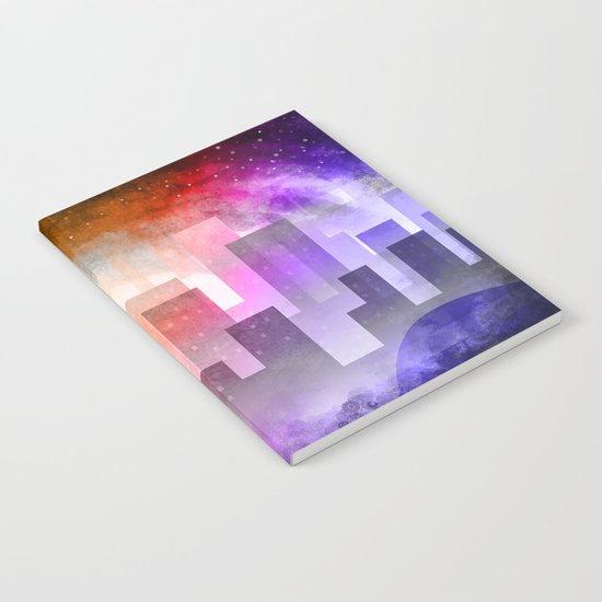 Colorful night digital illustration Notebook