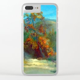 Smoke in the forest Clear iPhone Case