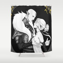 The heart of the wolf Shower Curtain