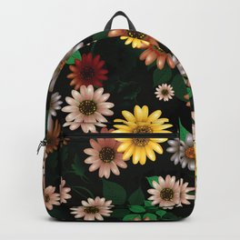 Multicolored natural flowers 19 Backpack