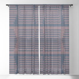 Bicolor Geometric I Sheer Curtain