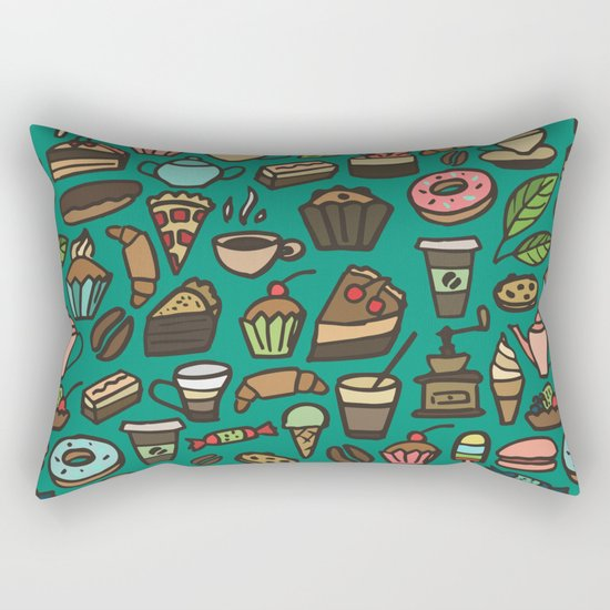 Coffee and pastry  Rectangular Pillow
