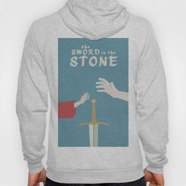 The sword in the stone, minimalist movie poster, animated film, King Arthur, Merlin, retro playbill Hoody