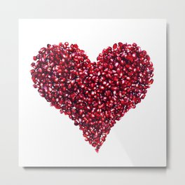 Pomegranate Heart Metal Print