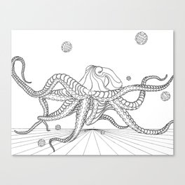 CYBERSPACE OCTOPUS Canvas Print