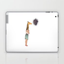 Giraffe Girl Laptop & iPad Skin