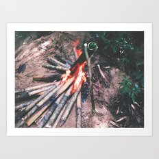 Cooking In The Wild - Borneo style Art Print