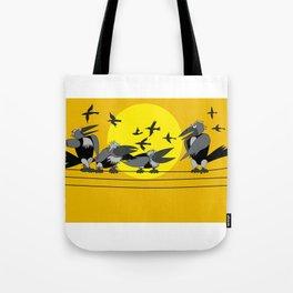 Funny bird Tote Bag