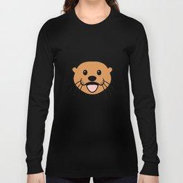 Sea Otter Face Long Sleeve T-shirt