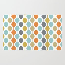 Retro Circles Mid Century Modern Background Rug