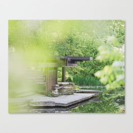 At the Lily Pond - Chicago Photography Canvas Print