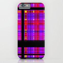 Unicorn Plaid Squares iPhone Case