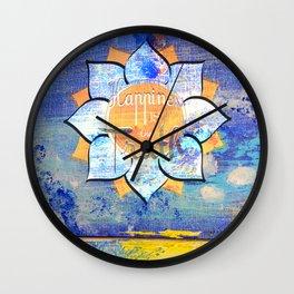 Happy Lotus Wall Clock