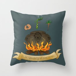 It's the specialty of the cave! Throw Pillow