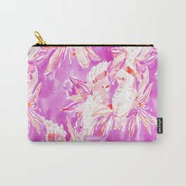 COCKATUDE Pink Cockatoo Watercolor Carry-All Pouch