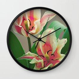Vintage tulips 7 Wall Clock