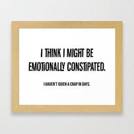 Emotional Constipation Framed Art Print
