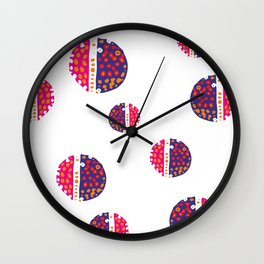 Micro pink and ultra violet Wall Clock