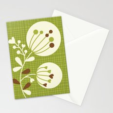 Retro Lime Bouquet Stationery Cards