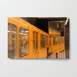 U-Bahn Mirror Metal Print