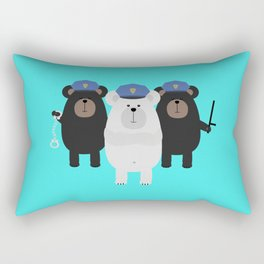 Grizzly Police Officer Rectangular Pillow