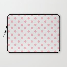 Small Polka Dots - Pink on White Laptop Sleeve