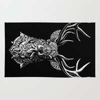 ornate Area & Throw Rugs featuring Ornate Buck by BIOWORKZ
