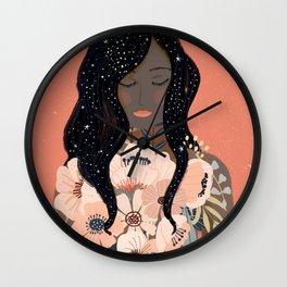 Self Love. Empower art Wall Clock