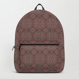 Peach, gray and chocolate lace Backpack