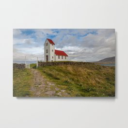 Chapel of Iceland Metal Print