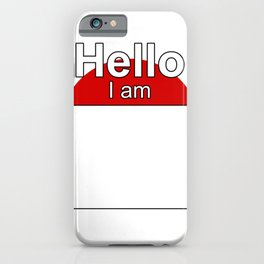 Hello I am from Japan iPhone Case