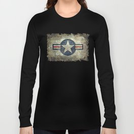 US Airforce style Roundel insignia V2 Long Sleeve T-shirt