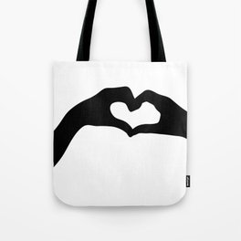 Hearts out of Hands - Silhouette Tote Bag