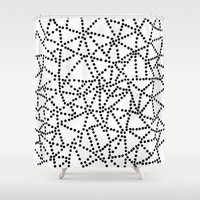 dots Shower Curtains featuring Dots by Project M