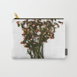 Botanical Art Pink Flowers Carry-All Pouch