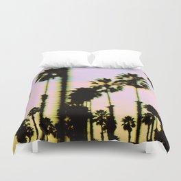 California Dreaming Palm Trees Sunset Duvet Cover