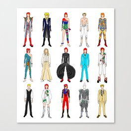 Outfits of Heroes Fashion on White Canvas Print