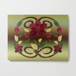 Scarlet Flora Metal Print
