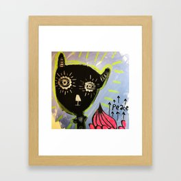 Peace Black Bear Framed Art Print