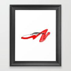 supercar Framed Art Print
