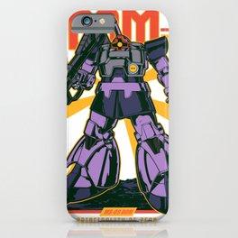Dom Rick Gundam Retro iPhone Case