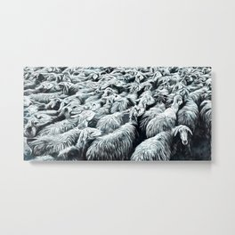 Animaline - Sheeps Metal Print